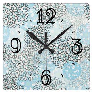 Modern Trendy Floral Pattern Clock