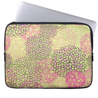 Modern Trendy Floral Pattern Laptop Sleeve