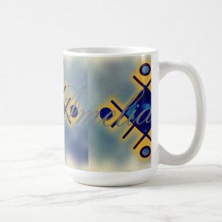modern,trendy,fractal,symbolist,art,polygamel,chic basic white mug