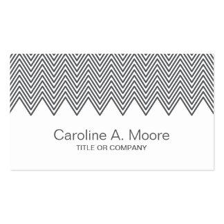 Modern trendy gray chevron zigzag pattern stylish business cards
