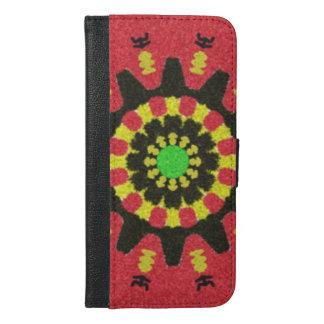 Modern trendy pattern iPhone 6/6s plus wallet case