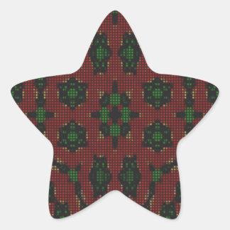 Modern Trendy pattern Star Sticker