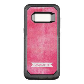 Modern Trendy Pink Rolled Ink OtterBox Commuter Samsung Galaxy S8 Case