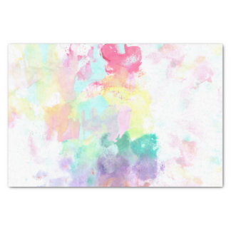 Modern trendy pink teal bright watercolor pattern tissue paper