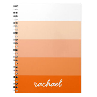Modern Trendy Stripes Personalised Note Books