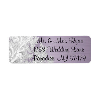 Modern Trendy Wedding in a Amethyst Purple Return Address Label