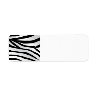 Modern Trendy Zebra Stripes Pattern Return Address Label