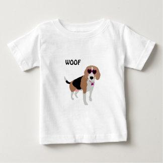 Modern tri-color beagle dog baby T-Shirt