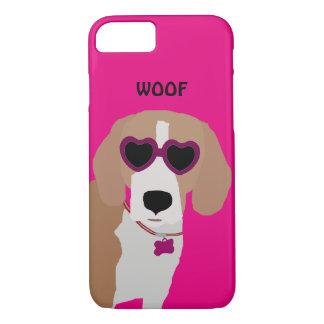 Modern tri-color beagle dog iPhone 8/7 case