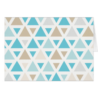Modern Triangle Geometric Pattern Card