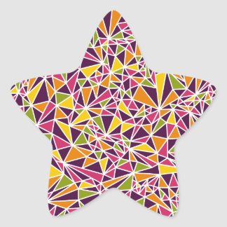 Modern Triangle Pattern Star Sticker