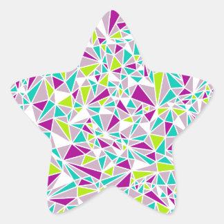 Modern Triangle Pattern Star Sticker