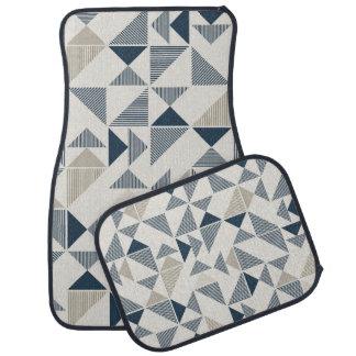 modern triangles car mat set