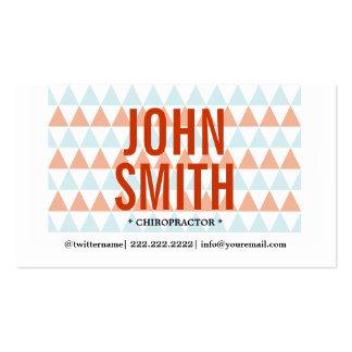 Modern Triangles Chiropractor Business Card