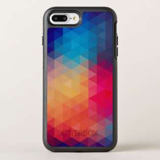 Modern Triangles Colorful Geometric Pattern OtterBox Symmetry iPhone 8 Plus/7 Plus Case