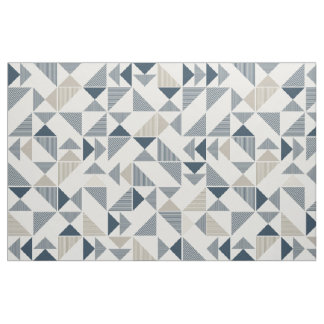 modern triangles print fabric