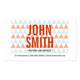 Modern Triangles System Architect Business Card