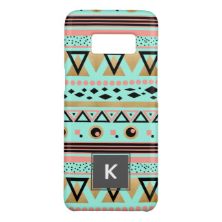 modern tribal aztec faux gold geometric pattern Case-Mate samsung galaxy s8 case