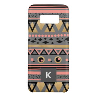 modern tribal aztec gold foil geometric pattern Case-Mate samsung galaxy s8 case