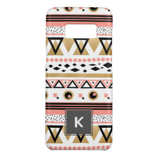 modern tribal aztec gold geometric pattern Case-Mate samsung galaxy s8 case
