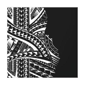 Modern tribal canvas art in Samoan style