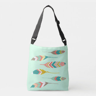 Modern Tribal Feathers Tote Bag