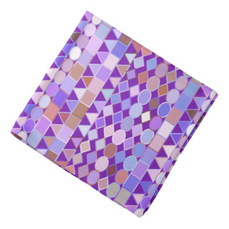 Modern Tribal Geometric, Amethyst Purple and Taupe Bandana