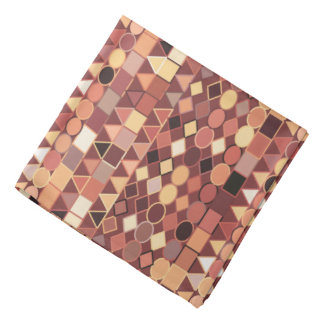 Modern Tribal Geometric, Chocolate Brown and Tan Bandana