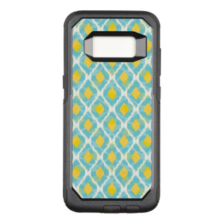 Modern tribal ikat blue yellow fashion OtterBox commuter samsung galaxy s8 case