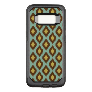 Modern tribal ikat blue yellow modern OtterBox commuter samsung galaxy s8 case