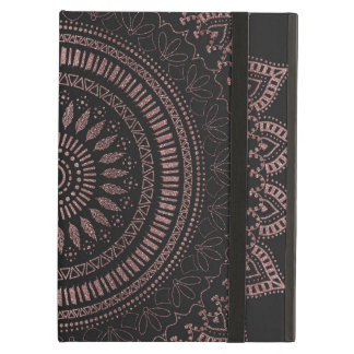 Modern tribal rose gold mandala design iPad air case