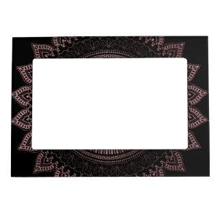 Modern tribal rose gold mandala design magnetic frame