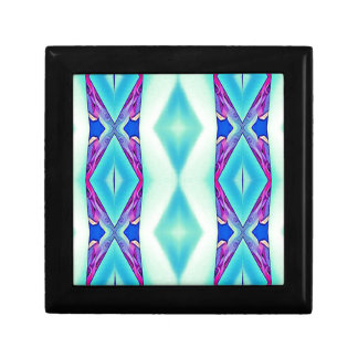 Modern Tribal Shades Of Teal Lavender Gift Box