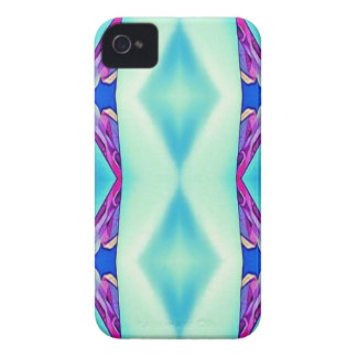Modern Tribal Shades Of Teal Lavender iPhone 4 Case
