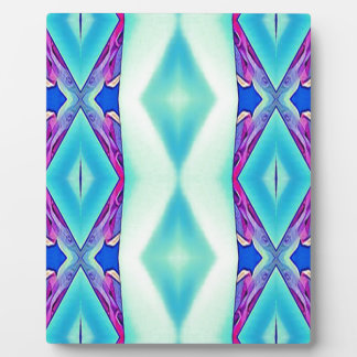 Modern Tribal Shades Of Teal Lavender Plaque