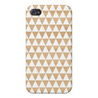 Modern tribal wood geometric chic andes pattern iPhone 4/4S case