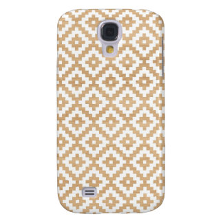Modern tribal wood geometric chic andes pattern samsung galaxy s4 case