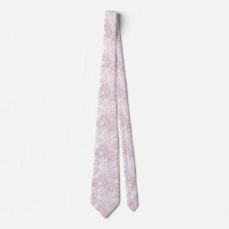 Modern tropical blush pink faux glitter palm tree tie