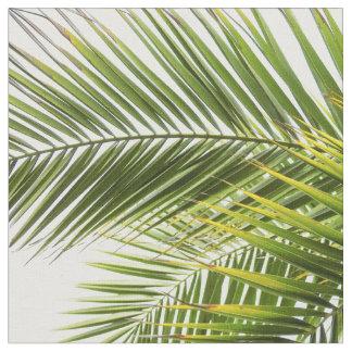 Modern tropical palm tree leaves fabric