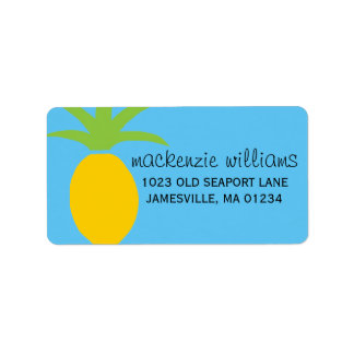 Modern Tropical Pineapple Mailing Labels