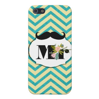 Modern Turquoise  Chartreuse Damask Wedding iPhone 5 Cases