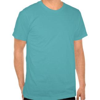 Modern Turquoise  Chartreuse Damask Wedding Tshirt