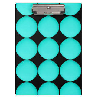 Modern Turquoise Pattern Clipboard