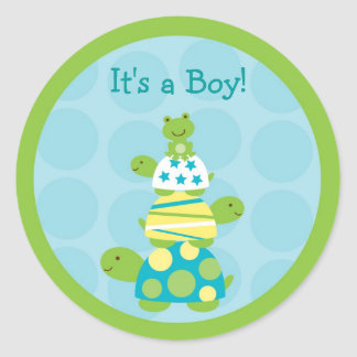 Modern Turtle Frog Envelope Seals Stickers