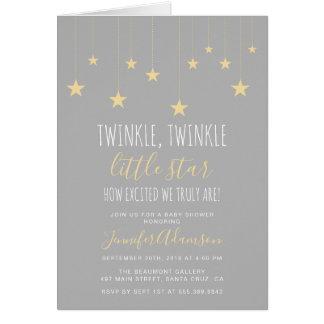 Modern Twinkle Little Star Baby Shower Card