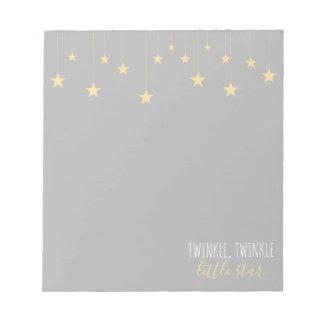 Modern Twinkle Little Star Baby Shower Notepad