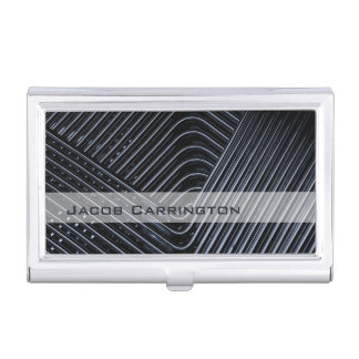 Modern Twisted Metal Business Card Case