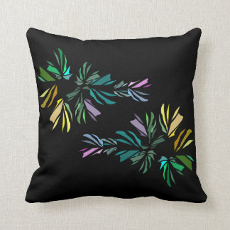 Modern Two-Sided Stylized Fish Print Throw Pillow
