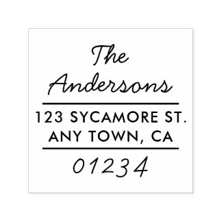 Modern Type Return Address Stamp