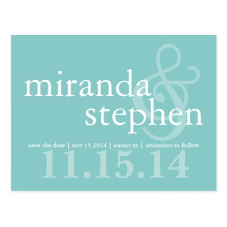 Modern Type Save the Date Bold Wedding Postcard